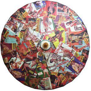 Accessories - Pin Up Cuties Paper Shade Parasol Retro Magazines